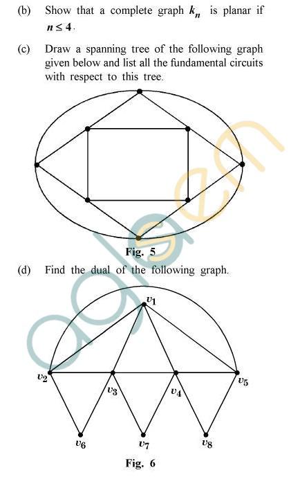 UPTU B.Tech Question Papers -TMA-011/MA-011 - Graph Theory