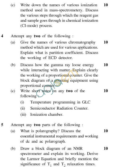 UPTU B.Tech Question Papers - IC-033-Analytical Instrumentation