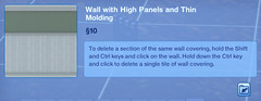 Wall with High Panels and Thin Molding