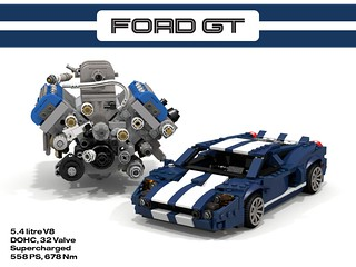 Ford GT + 5.4 DOHC Supercharged V8