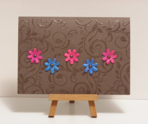Flowers on chocolate brown by cathroff