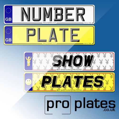 car number and show plate differences
