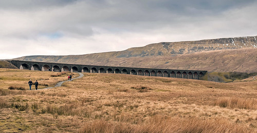 Ribblehead Viaduct with Whernside by Andy Pritchard - Barrowford