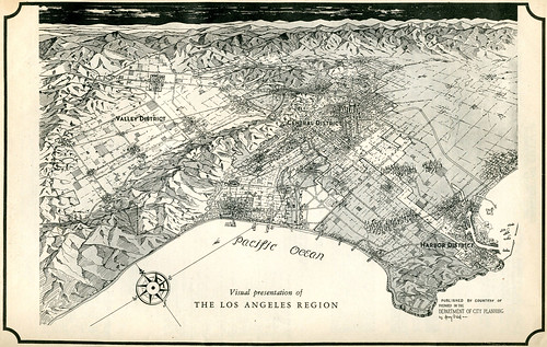 1946 Los Angeles Map:  Henry Wall