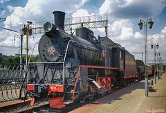 Soviet E-class Steam Locomotive Er766-11. Советский паровоз Эр766-11.
