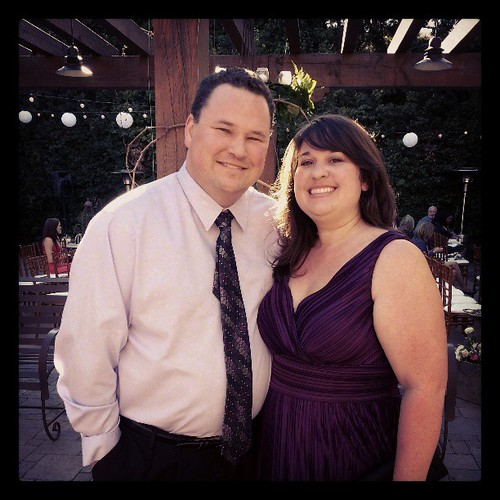 Randall and I at Jessica's and Shaun's wedding.