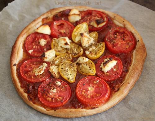 Tomato, Basil & Feta Tart 2