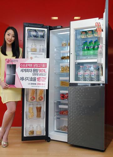 디오스 양문형 냉장고 901리터 신제품 (모델명:R-T903VBDSU)