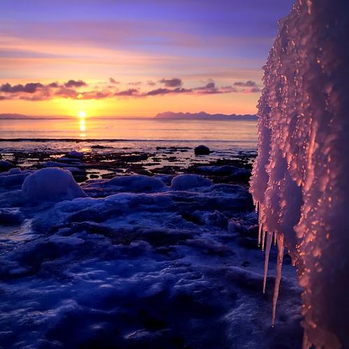 sunset sky sun seascape ice colors svalbard spitsbergen nikond7000