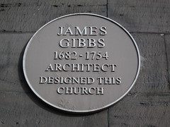 Photo of James Gibbs yellow plaque