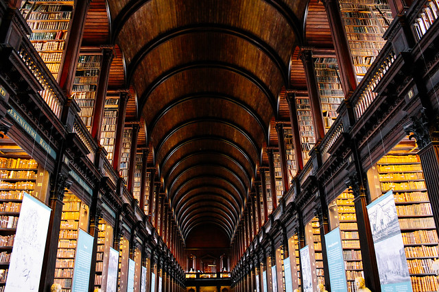 The Long Hall at Trinity College