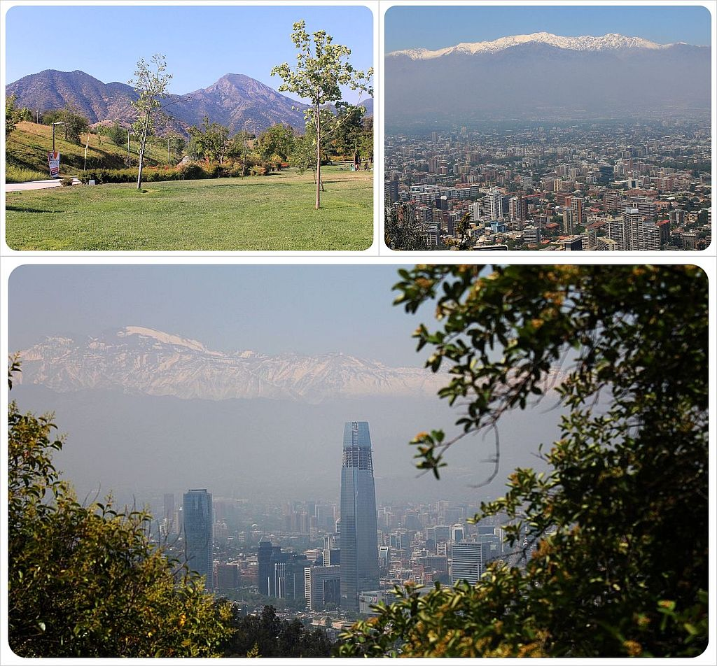 Santiago mountain views