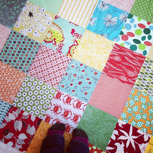 Phew! 2 quilts basted.