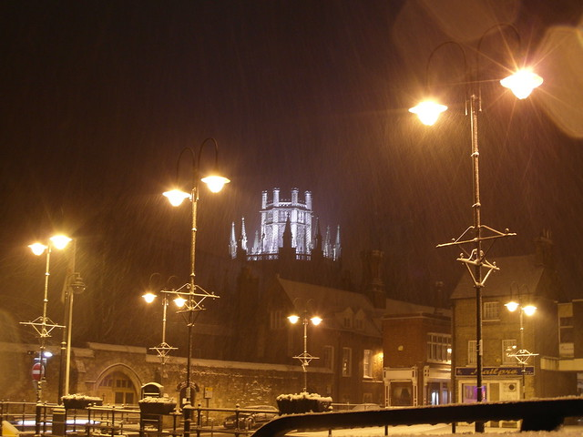 Ely Cathedral Lantern Tower in the Snow