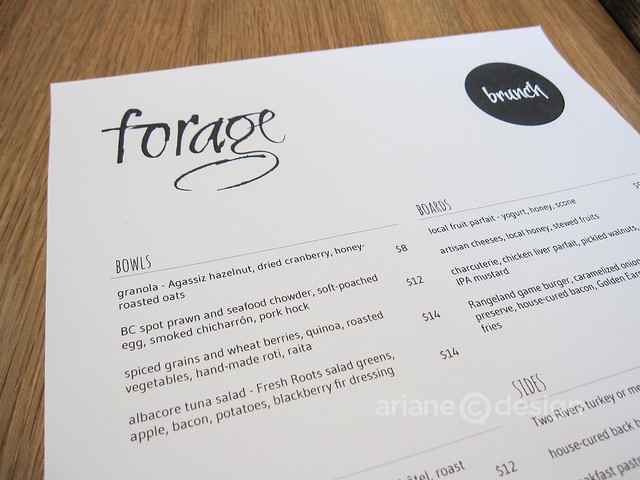 Brunch at forage