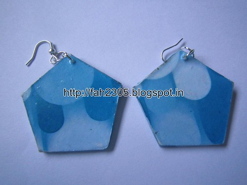 Handmade Jewelry - Card Paper Earrings (13) by fah2305