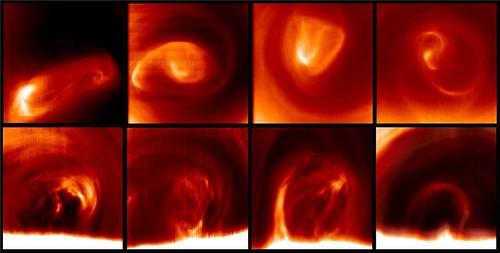 Venere vortice al polo sud