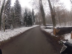 Schnee in der Gegend am Chatzensee