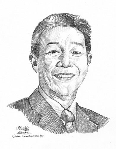 Pencil portrait for Chinese Swimming Club Tan Lai Choon - 14