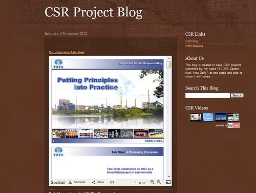 csr project blog