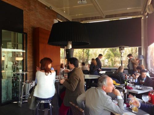 Terraza cubierta - Restaurante Lounge En copa de balón