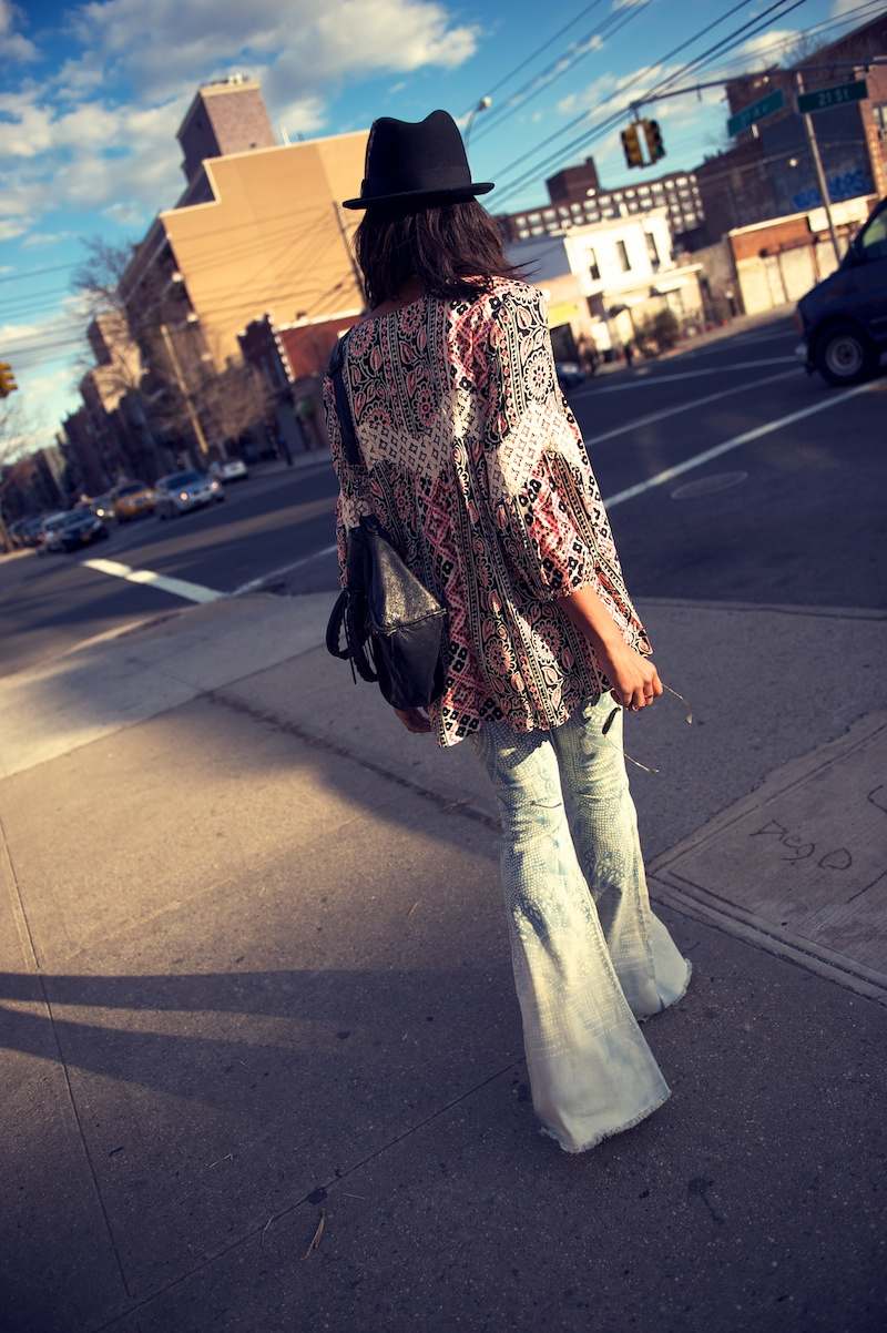 Free People discharge bali flare