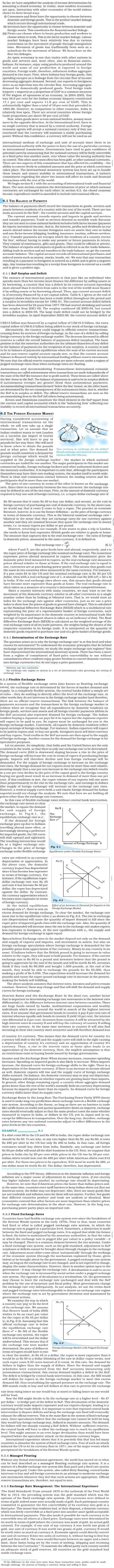 NCERT Class XII Economics Macroeconomics - Open Economy Macroeconomics