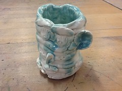 Stripped ugly jug