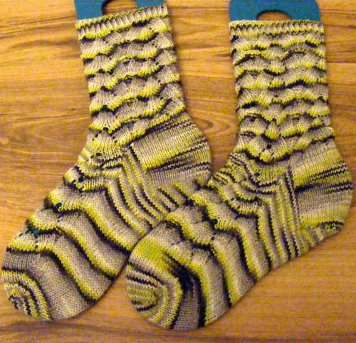 Day glow goth socks