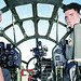 "Col. Paul Tibbets IV, right, sits in the cockpit of ""Fifi,"" a B-29 bomber, with his grandfather and Enola Gay pilot Paul W. Tibbets Jr., in this October 1998 photo taken in Midland, Texas."