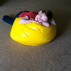 a new bean bag from aunt sarah