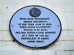 Photo of Elizabeth I of England white plaque