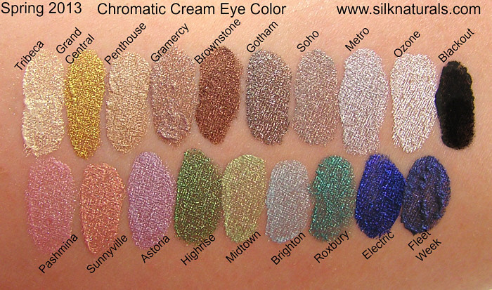 silk naturals chromatic cream eye colors swatches