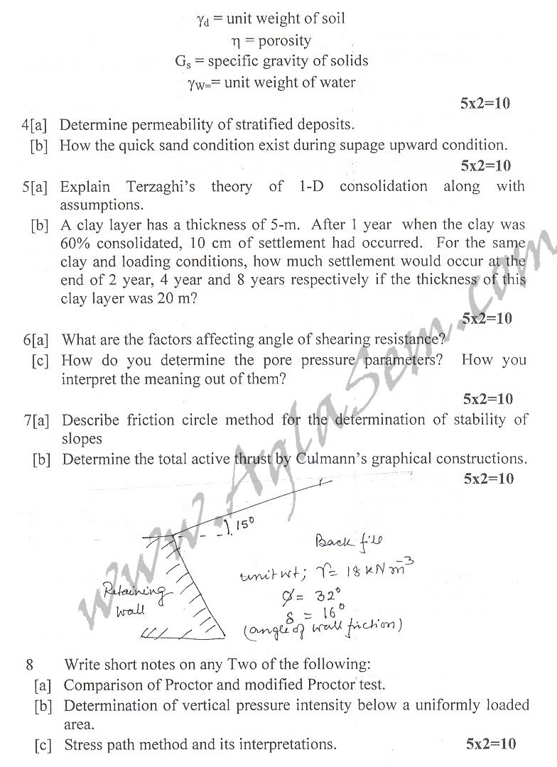 DTU Question Papers 2010 – 4 Semester - End Sem - CE-211