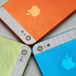 電鍍橘、淺藍、綠