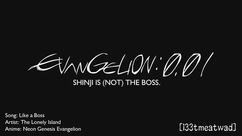 AMV - Evangelion 0.01 - Shinji is (Not) the Boss [84B1FE85]