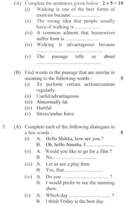 DU SOL: BA Programme Question Paper – English B – Paper I ...