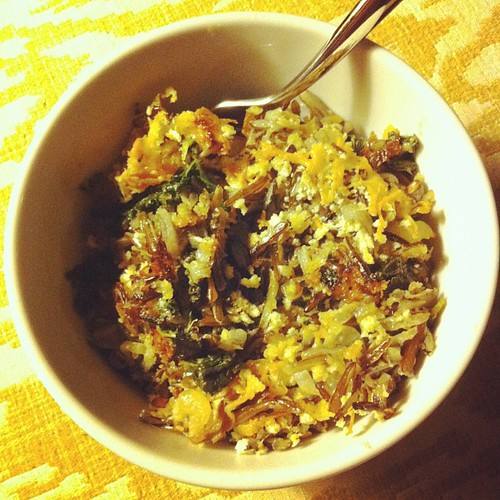 Wild Rice, Kale & Swiss Gratin #wfd #smittenkitchen