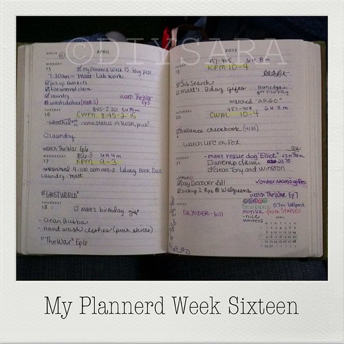 My Plannerd Week Sixteen