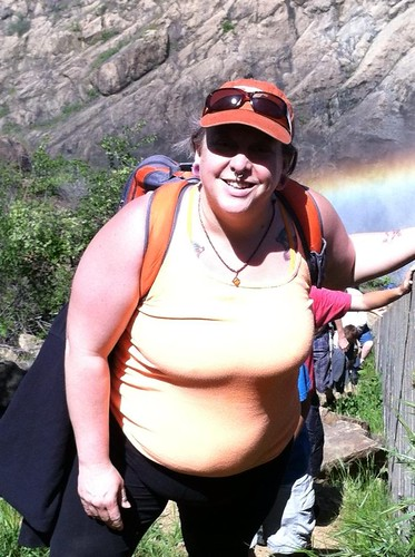 Hiking out from Clementine falls. Sunburn & orange are the colors of the day.