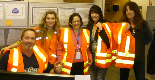 Port Angeles Team goes orange