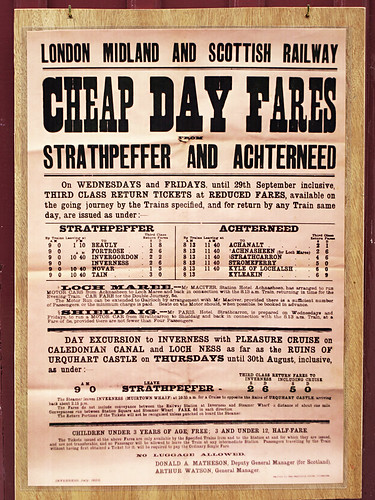 Train Timetable, Strathpeffer, Scotland