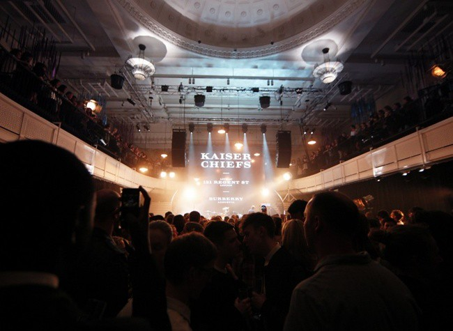 1 Burberry 'Live at 121 Regent Street' launches with Kaiser Chiefs