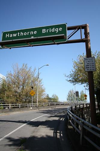 Hawthorne Bridge on-ramp