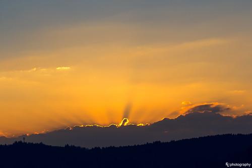 light sky sun clouds spring glow halo rays