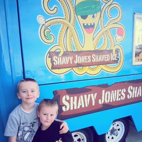 Bye bye shavy jones.  Elliott cried this morning.   Im crying tonight.  Best 4 summers of our lives spent eating pizza and shleping shaved ice.  The trailer is going to a good home but it's silly how hard it is to see her go.