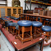 Large quantities of bar furniture