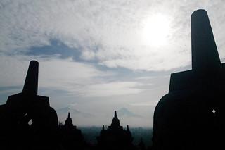 Sunrise, Borobudur Temple, Yogyakarta, Jogjakarta, Java Island, Indonesia