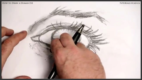 learn how to draw a human eye 017