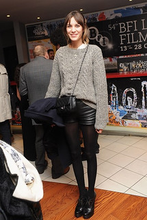 Alexa Chung Leather Shorts Celebrity Style Women's Fashion